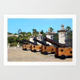 Cannons at Morro Castle Art Print