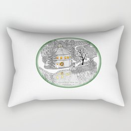 Round Barn Inn, Waitsfield, Vermont near Sugarbush- Zentangle illustration Rectangular Pillow