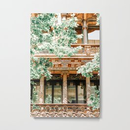 Barcelona Architecture, Travel Print, Exploring Barcelona City, Building Details Facade, Urban Architectural Details, Home Decor, Wall Art Print Poster, Summer In Barcelona, Spain Exploration Metal Print