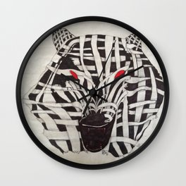 Mummy Wolf Wall Clock