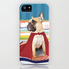 Super Frenchie: French Bulldog in Cape iPhone Case