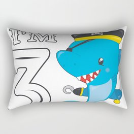 Pirates 3rd Birthday Party 3 Years Shark Gift Idea Rectangular Pillow