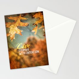 Live Everyday with Intention Stationery Cards