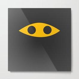 Ninja Emoticon Metal Print