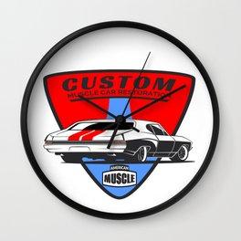Custom Muscle Car Wall Clock