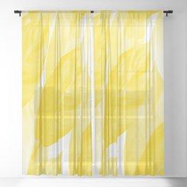 Beautiful Airy Yellow Leaves White Background #decor #society6 #buyart Sheer Curtain