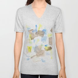 180515 WATERCOLOUR ABSTRACT WP 18| Watercolor Brush Strokes Unisex V-Neck
