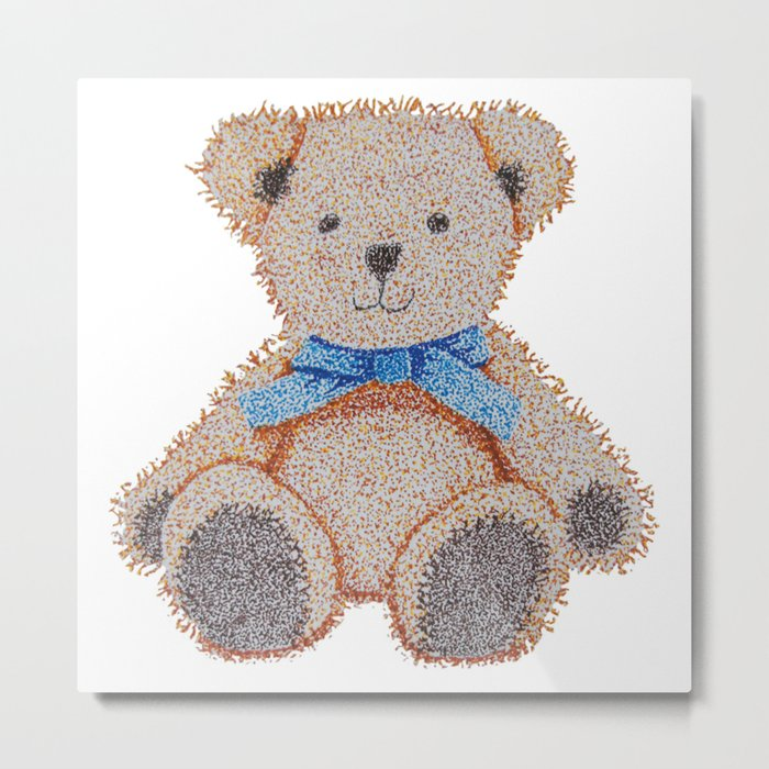 Stippled Teddy Bear  Metal Print