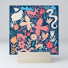 Nursery rhyme garden 002 Mini Art Print