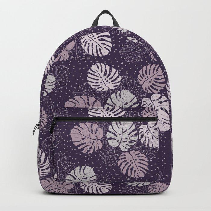 Purple Monstera Backpack