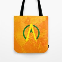 aquaman Tote Bags featuring Aquaman by Some_Designs