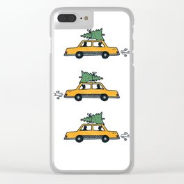 Christmas Cabs, New York Clear iPhone Case
