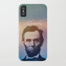 Stand Firm. Lincoln. 1809-1865. Slim Case iPhone X
