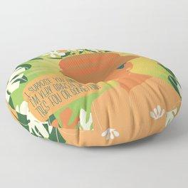 audrey hepburn flower hat Floor Pillow