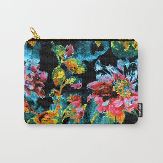 double floral Carry-All Pouch