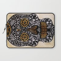 calavera Laptop Sleeves featuring CALAVERA by Nick Potash