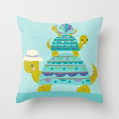turtle tower Throw Pillow