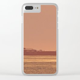 Ship under Copper Sunset Lightning Clear iPhone Case