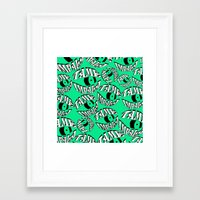 tame impala Framed Art Prints featuring TAME IMPALA EYES2 by Queen Lizard