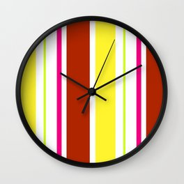 Stripes in colour 4 Wall Clock