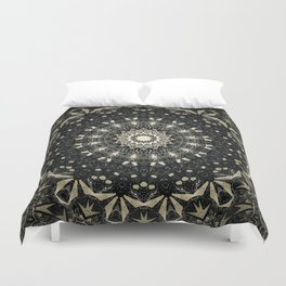 Decorative Black Ink Bohemian Mandala Duvet Cover