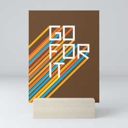 70s Go For It Mini Art Print