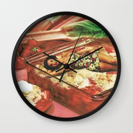 Deserted on a dessert Wall Clock