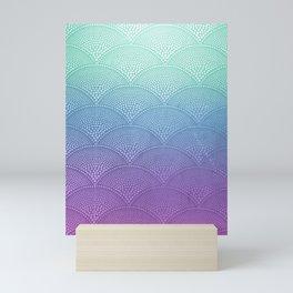Purple & Turquoise Scallop Mini Art Print