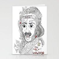 einstein Stationery Cards featuring Einstein by Ina Spasova puzzle