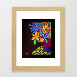Patio Flowers by Anthony Davais Framed Art Print