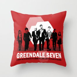 Greendale Seven Throw Pillow