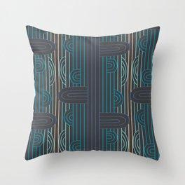 art deco stripe Throw Pillow