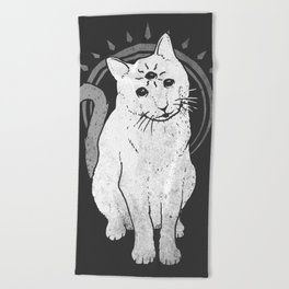 psychic Kitty 2 Beach Towel