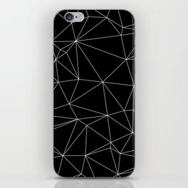 Geometric Black and White Minimalist Pattern iPhone Skin
