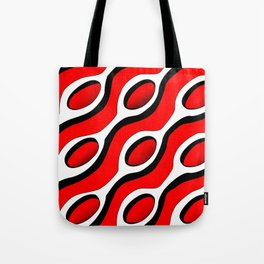 Chains Patterns - Red Tote Bag