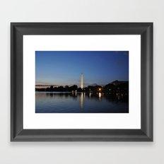 Washington Memorial Across Tidal Basin Framed Art Print