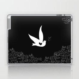 Love and Freedom - Black Laptop & iPad Skin