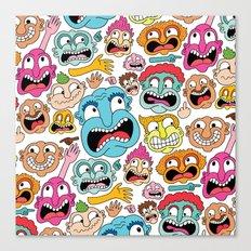 Weird Faces Canvas Print