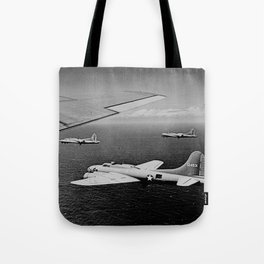 B-17F Flying Fortress Bombers over the Southwest Pacific Tote Bag