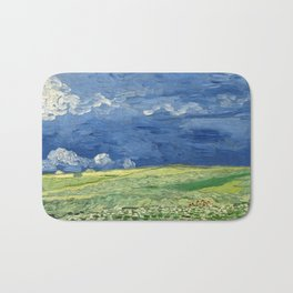 Vincent van Gogh - Wheatfield Under Thunderclouds Bath Mat