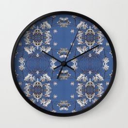 Star-filled sky (Star Magnolia flowers!) - diamond repeating pattern Wall Clock