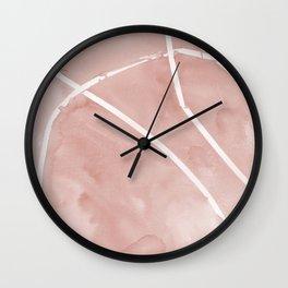 Watercolor Ribbon Wall Clock
