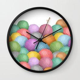 So Much Yarn Wall Clock