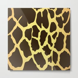 Giraffe Skin Print Metal Print