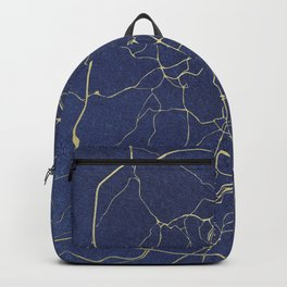 Rome Blue and Gold Street Map Backpack