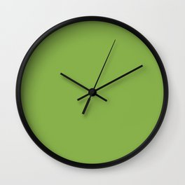 Greenery - Pantone's 2017 color of the year Wall Clock