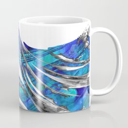Blue And White Abstract Art - WaveBlue And White Modern Art - Wave 3 - Sharon  3 - Sharon Cummings Coffee Mug