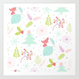 Winter Pattern Art Print