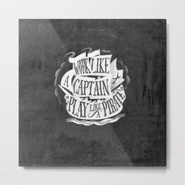 like  a pirate, black Metal Print