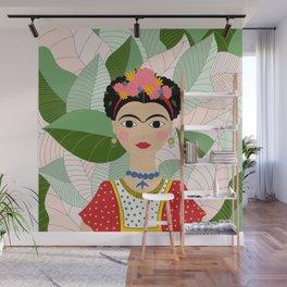 Frida Kahlo Portrait Digital Draw Wall Mural